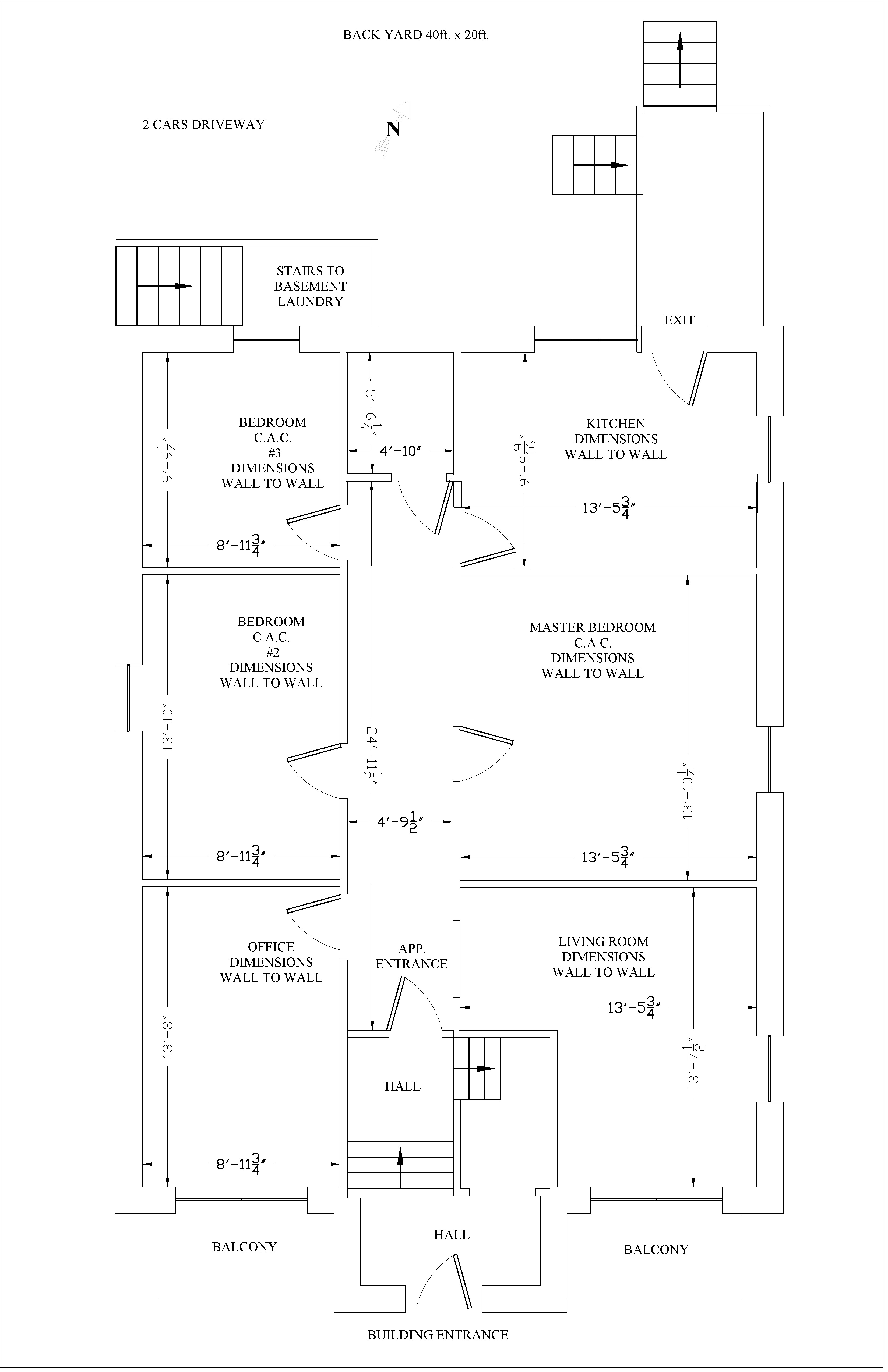 4 bedroom Apartments for rent in Ville-Lasalle at 8875 Beyries - Floorplan 01 - RentQuebecApartments – L404451