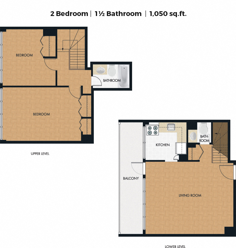 2 bedroom Apartments for rent in Notre-Dame-de-Grace at 5999 Monkland - Floorplan 01 - RentQuebecApartments – L406281
