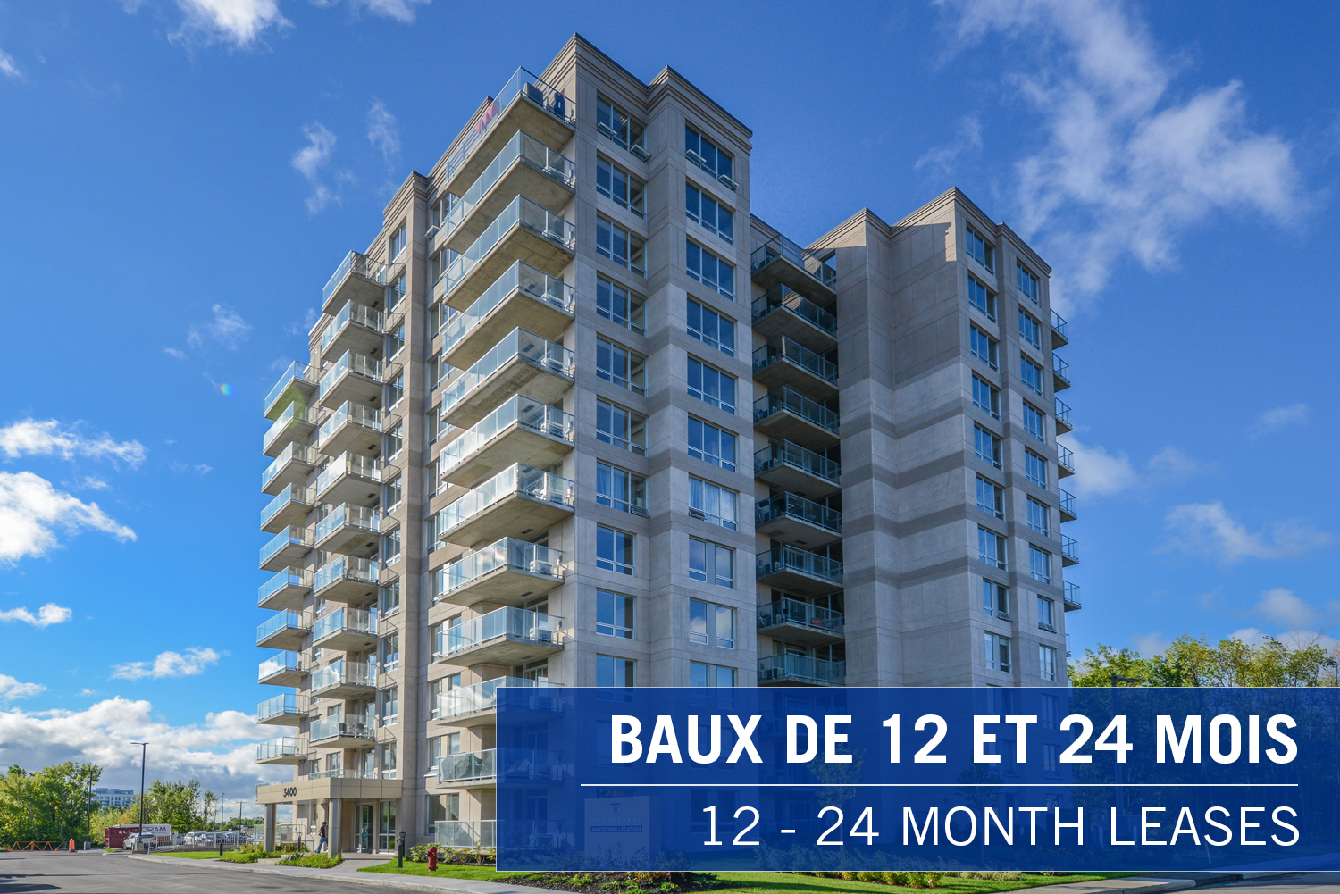 2 bedroom Apartments for rent in Laval at Axial Towers - Photo 01 - RentQuebecApartments – L401220