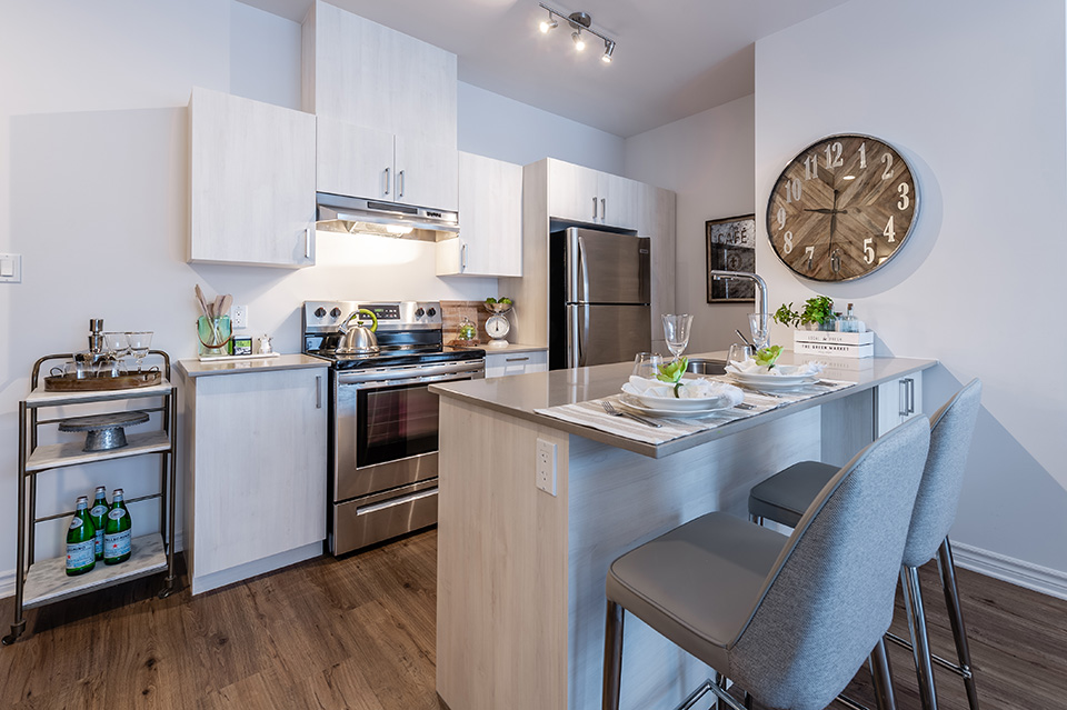 luxurious 2 bedroom Apartments for rent in Pointe-Claire at La Voile Pointe-Claire - Photo 01 - RentQuebecApartments – L403117