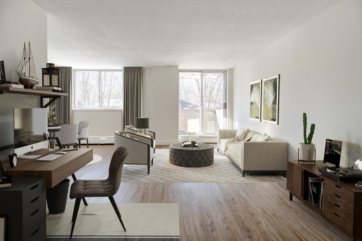 Studio / Bachelor Apartments for rent in Nuns' Island at Hi-Rise 4 - Photo 07 - RentQuebecApartments – L407154