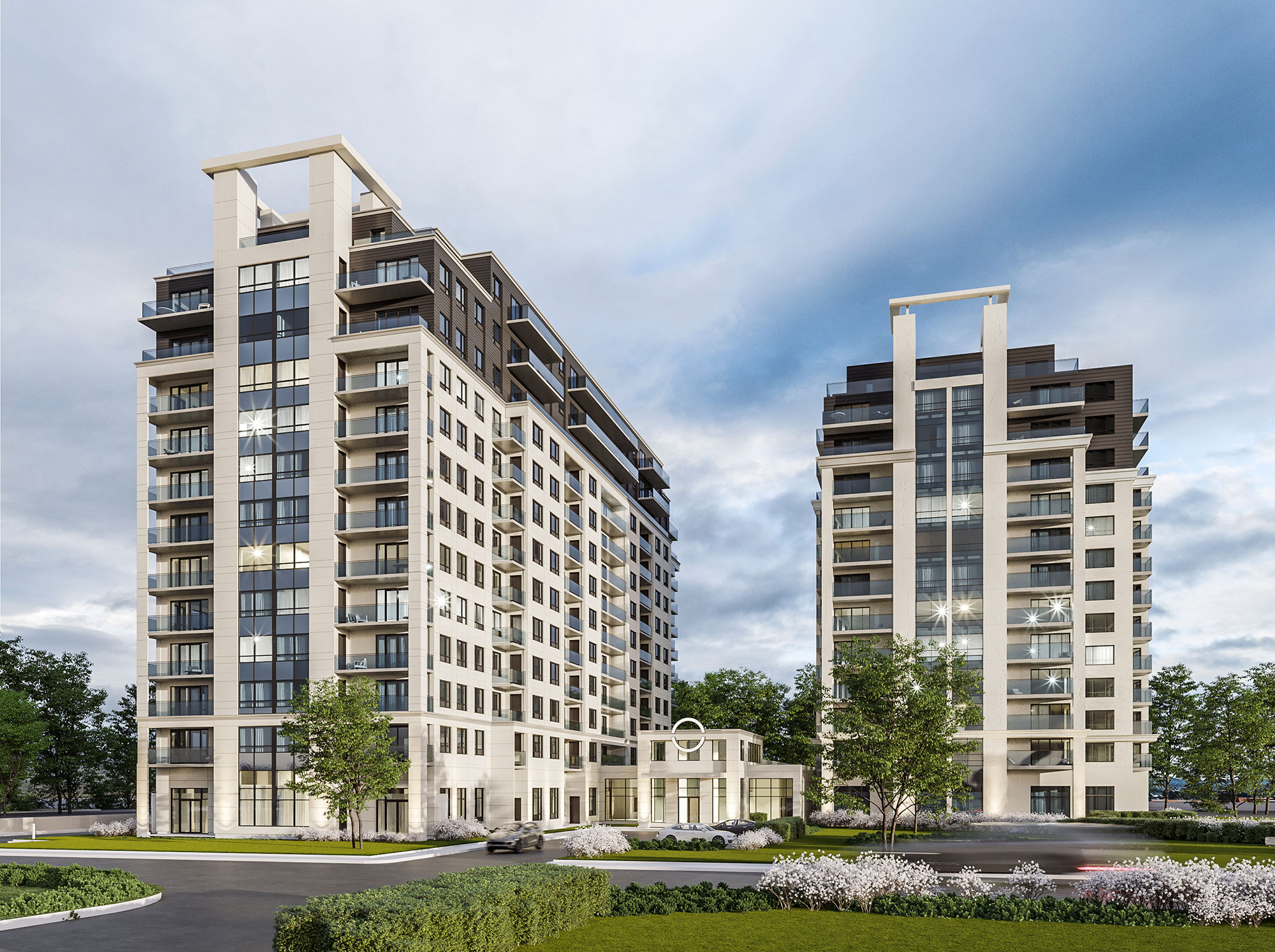 luxurious 1 bedroom Condos for rent in Cote-St-Luc at Collection Equinoxe - Marc Chagall - Photo 01 - RentQuebecApartments – L293824