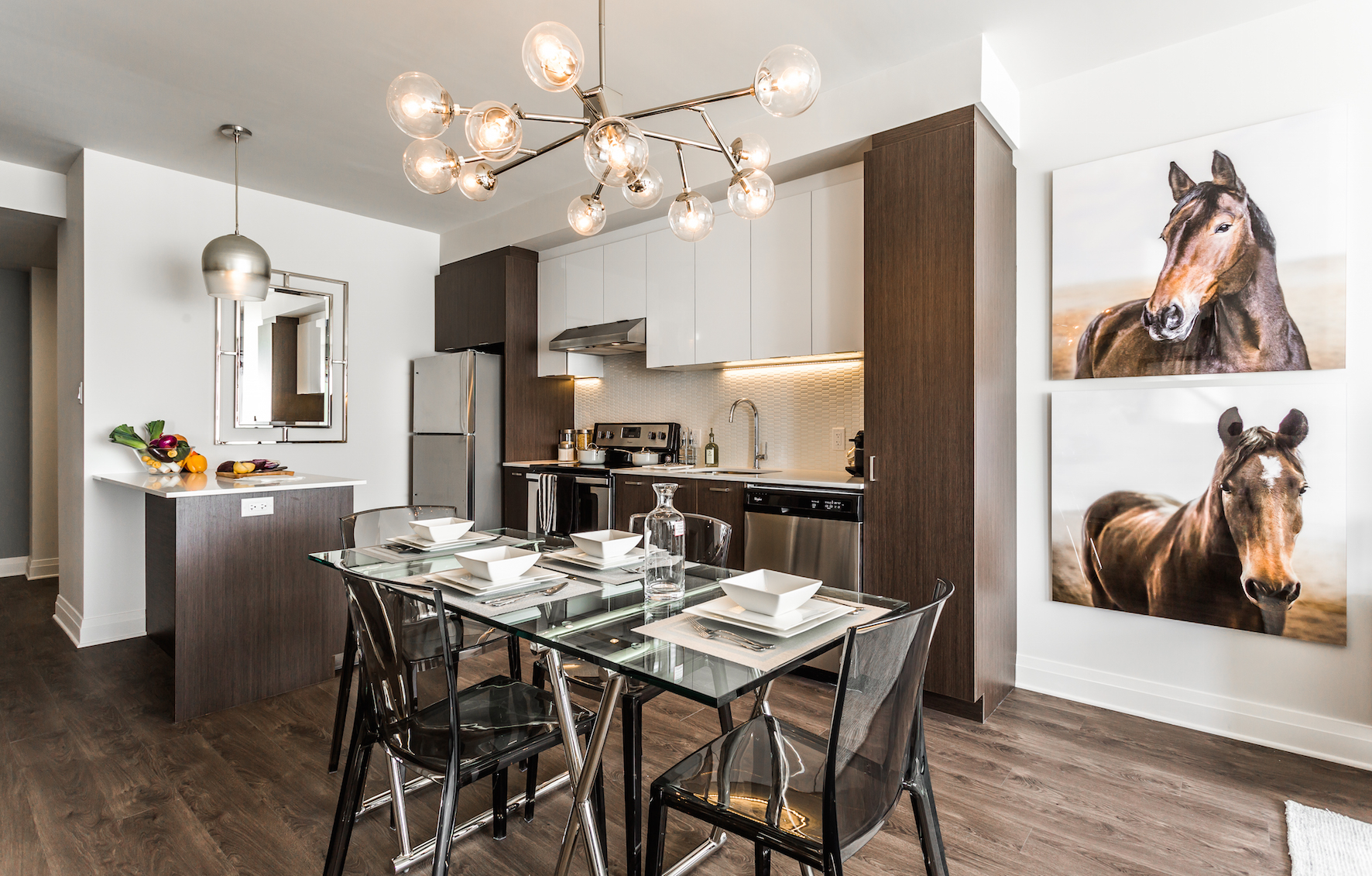 luxurious 1 bedroom Condos for rent in Cote-St-Luc at Collection Equinoxe - Marc Chagall - Photo 02 - RentQuebecApartments – L293821