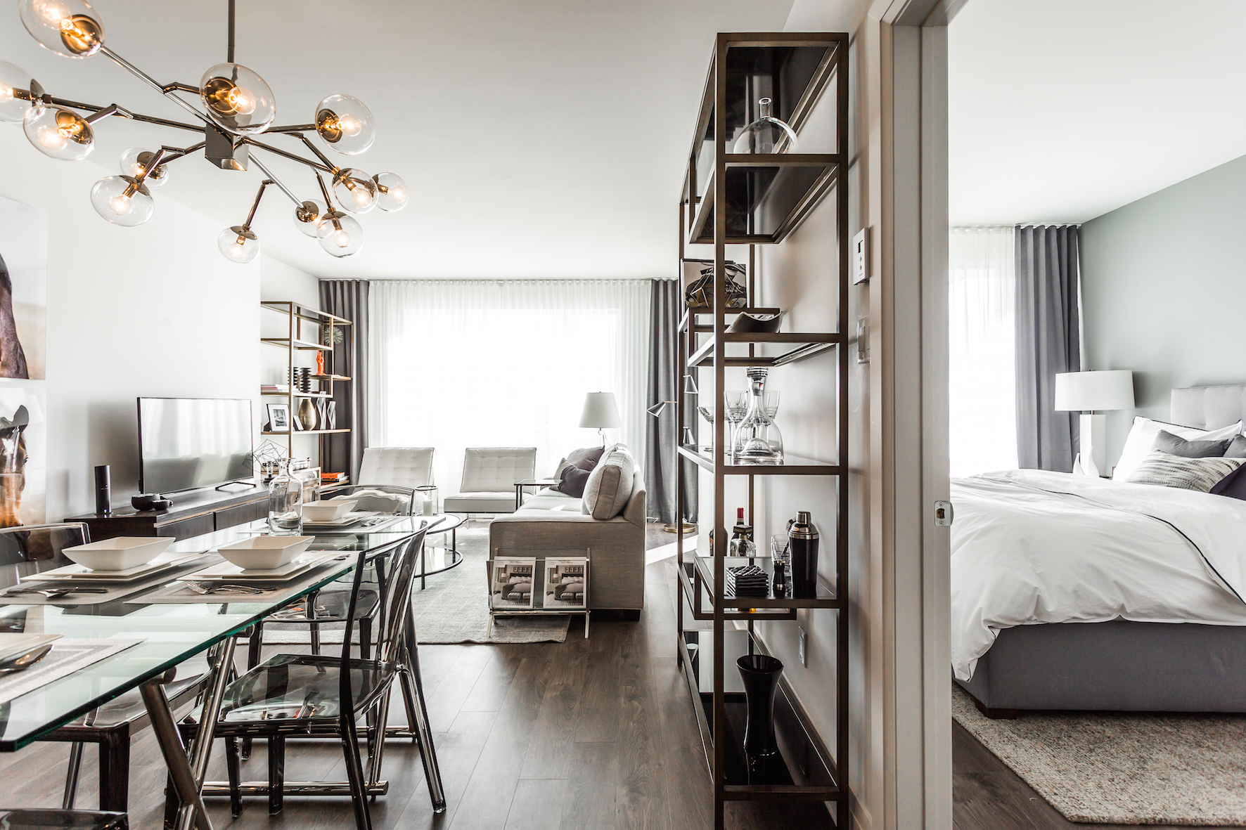 luxurious 1 bedroom Condos for rent in Cote-St-Luc at Collection Equinoxe - Marc Chagall - Photo 03 - RentQuebecApartments – L293821