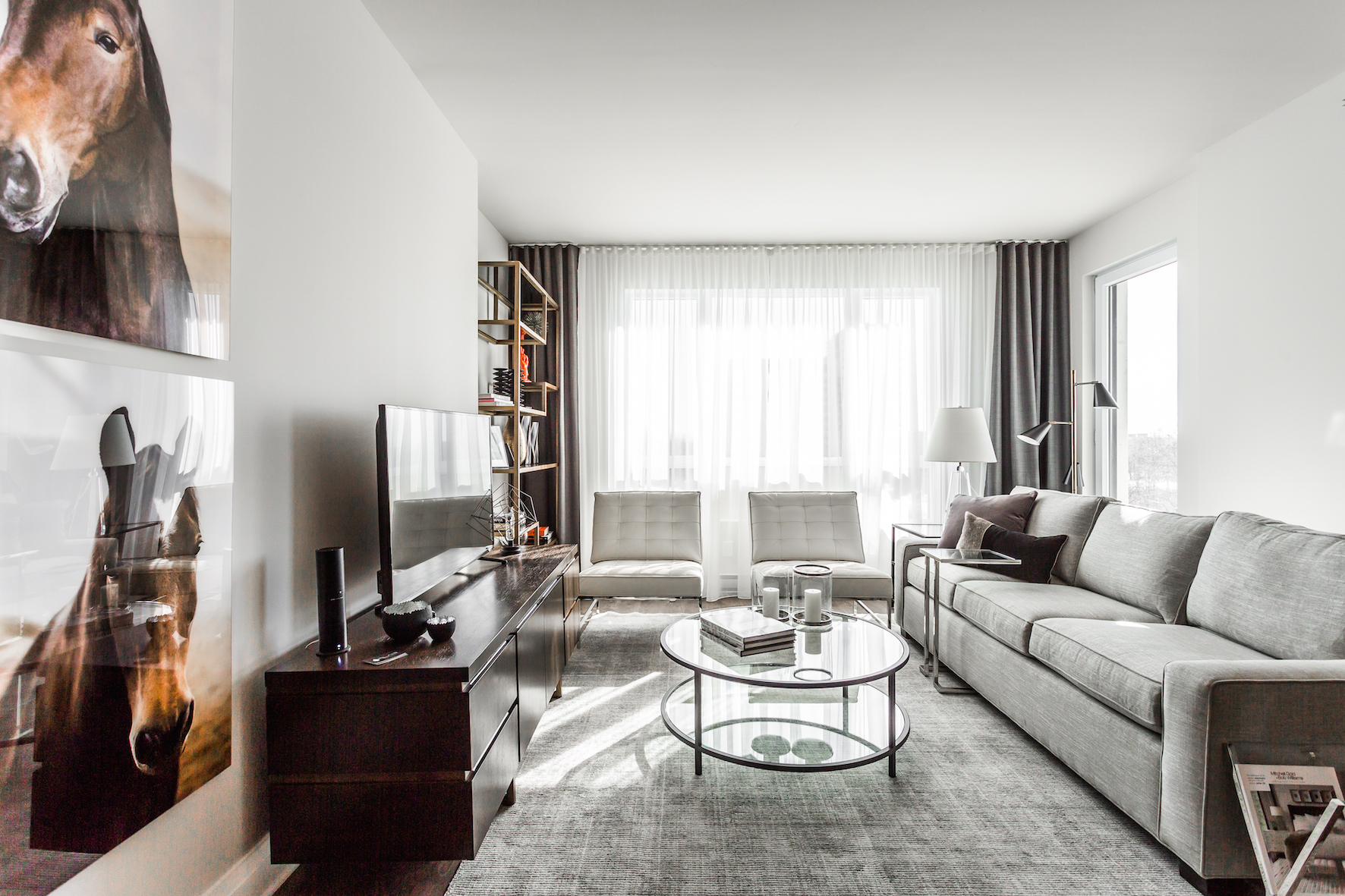 luxurious 1 bedroom Condos for rent in Cote-St-Luc at Collection Equinoxe - Marc Chagall - Photo 04 - RentQuebecApartments – L293821