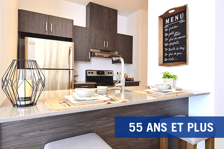 luxurious 1 bedroom Apartments for rent in Boisbriand at La Voile Boisbriand - Photo 01 - RentQuebecApartments – L401685